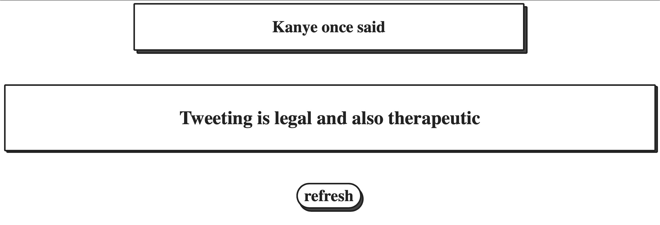 KanyeRest Quote Generator demo